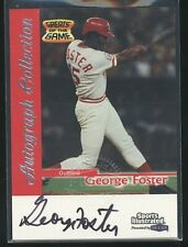 1999 Sports Illustrated Prestented by Fleer GEORGE FOSTER Auto Autograph Reds