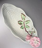 Shorter & Son Staffordshire England Art Deco 1930s handpainted floral dish bowl