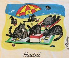 ViNTAGE 80's KLiBAN CAT BEACH PiCNiC Blanket Umbrella KiLBAN CRAZY SHIRT Hawaii