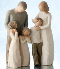Willow Tree Parents with Three Children Figurine Gift Set Family Group
