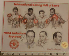IBHOF 2004 PROGRAM FRONT SIGNED PALOMINO NELSON QAWI PELTZ- OFFERS ACCEPTED