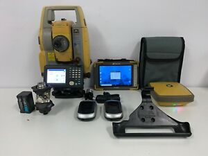 """Topcon DS-203AC 3"""" Robotic Total Station with FC-6000 Tablet & Hyper SR GNSS"""