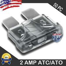 50 Pack 2 AMP ATC/ATO STANDARD Regular FUSE BLADE 5A CAR TRUCK BOAT MARINE RV US