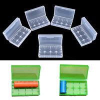 5X 18650 CR123A 16340 Hard Plastic Transparent Battery Case Box Holder Storag Fw