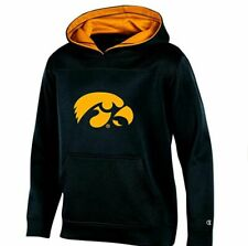 NCAA IOWA HAWKEYES YOUTH BOYS PULLOVER HOOD WITH CONTRA LARGE BLACK *NWT*