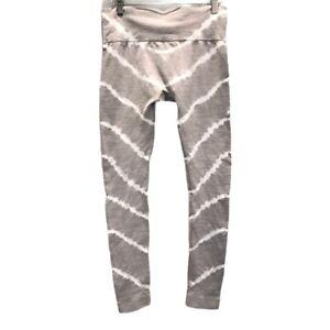 Wildfox Womens Leggings Pants Multicolor Gray White Tie Dye Elastic Waist M