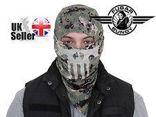 Airsoft Ninja Balaclava Face Head Protector - Glow In The Dark Skull - AOR2