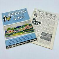 Vintage 1952 and 1953 Aladdin Readi Cut Homes Catalogs MCM Model Designs BK18