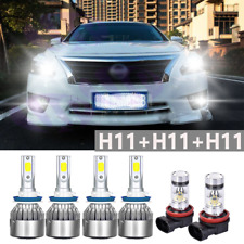 For Nissan Altima 2005 6pcs LED Headlights Hi/Low + Fog light Bulbs Kit 6000K