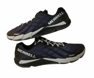 MERRELL Mens Size 10 US Bare Access Black Flex Connect J09657 Mesh Running Shoes
