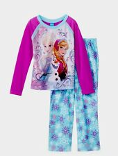Disney Frozen Toddler Girl Pj Set Long Sleeves Shirt & Long Pants Size 6/6x