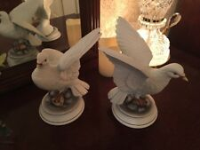 Andrea By Sadek Large White Doves Porcelain Bird Figurines