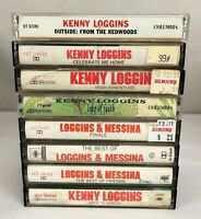 Lot of 8 Kenny Loggins / Loggins & Messina Cassette Tapes