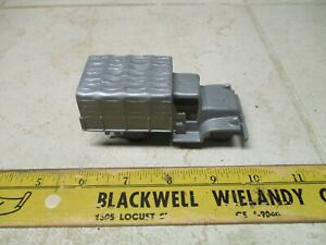 VTG Marx USA 2.5 Ton Silver Truck Plastic Playset WWII Military Army Vehicle