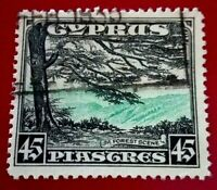 Cyprus:1934 Landscapes and Buildings 45 Pia Rare & Collectible stamp.