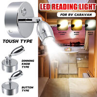LED Reading Spot Light Bedside Wall Lamp Dimmable Boat Caravan Motorhome Kitchen