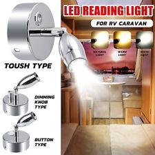 LED Reading Spot Light Bedside Wall Lamp Dimmable Boat Caravan Motorhome Kitchen