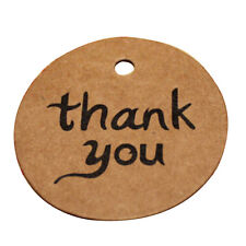 100X Kraft Paper Hang Tags Wedding Party Favor Label thank you Gift Cards