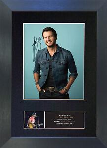 LUKE BRYAN Signed Mounted Reproduction Autograph Photo Prints A4 780