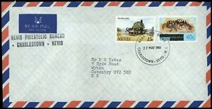 Nevis 1981 Official Commercial Cover To UK #C56827