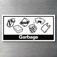 Recycling Garbage Sticker for Bin 7 Year Vinyl Water & Fade Proof