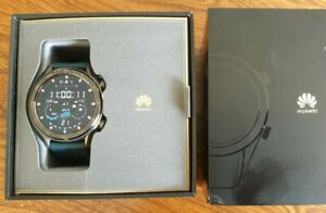 Huawei Watch GT B19 46mm Titanium Grey Stainless Steel excellent condition boxed