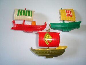 ANCIENT SAILING SHIPS 1994 MODEL BOATS SET - KINDER SURPRISE TOYS MINIATURES