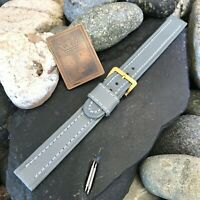 """rare 1950s 5/8"""" Germany Long Old-Stock Shrunken Calf Strap Vintage Watch Band"""