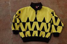 Pull Rossignol  Vintage 12 ans - jaune et noir