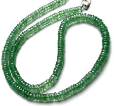 NATURAL GEM RARE MINT GREEN COLOR KYANITE FACETED HEISHI BEADS NECKLACE 16.5""