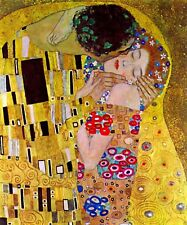 The Kiss by Gustav Klimt Giclee Fine Art Print Reproduction on Canvas