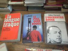 Lot 3 livres de Gilles Perrault La longue traque le pull over rouge L'orchestre