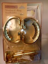 HomeTrends Windsor C-Ring - Swagholder/Holdback - New set of 2 gold tone.