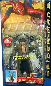 SPIDERMAN 2 Movie Doc Ock 6 inch New Tentacle Attack Action Factory Sealed 2004
