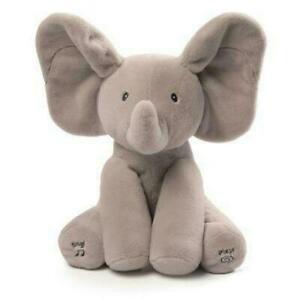 NEW GUND Flappy Elephant Peekaboo Sing Play Animated Soft Toy Plush Baby Gift!