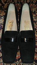 FERRAGAMO Women's Black Pumps Sz 6.5 4A AAAA Extra Narrow Heels Shoes
