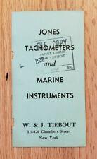 1932 Jones Tachometers and Marine Instruments Sales Folder