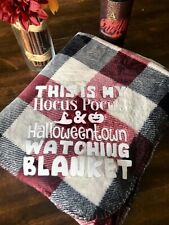 Hocus Pocus/Halloween Town movie watching Blanket for fall