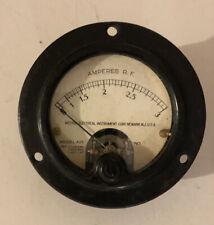 Vintage Weston Electrical Model 425 3 12 Diameter Amperes Rf Gauge