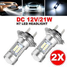 2Pcs Car H7 LED Headlight Globes DC 12V Xenon 6000K Low Beam White Lamp Bulbs