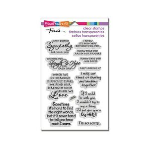 Sympathy Stamps Words Sentiments Stampendous craft clear cling stamp set 11PC