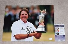 PHIL MICKELSON SIGNED AUTHENTIC MASTERS VICTORY AUGUSTA 11X14 PHOTO w/ JSA COA