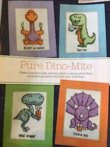 (A1) Cute Dinosaur Cards Cross Stitch Chart