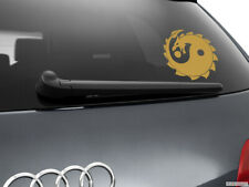 Yin Yang Dragon Car Sticker Window Styling Decal, Gold