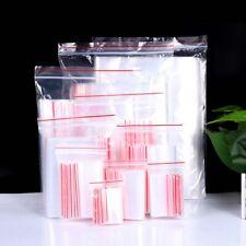 100Pcs Resealable Clear Plastic Seal Press Zip Lock Bags Polythene  Bag~