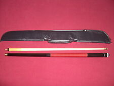 NEW 2 PIECE POOL SNOOKER CUE, BLACK BUTT RED WRAP  + free soft cue case  6134