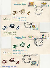Stamps Christmas Island fish definitives set of 10 on 4 x PARADE fish , FDC's