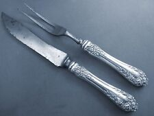 ROSE-WALLACE STERLING 2PC SMALL CARVING SET-MONO'D