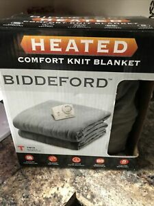 "Biddeford Comfort Knit Heated Blanket Twin (62x84"") Sizing ~"