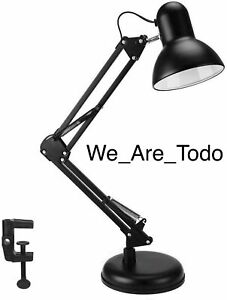 WAFTING Swing Arm Desk Lamp,Table Lamp,Extra LED Bulb & Clamp,Metal Structure,